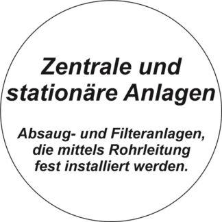 Stationäre & Zentrale Absaug-/Filteranlagen
